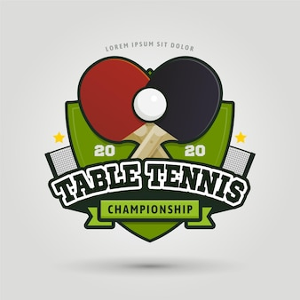 Logo de tennis de table de conception détaillée