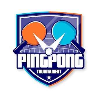 Logo de tennis de table détaillé
