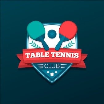 Logo de tennis de table détaillé