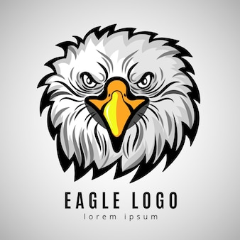 Logo tête d'aigle américain