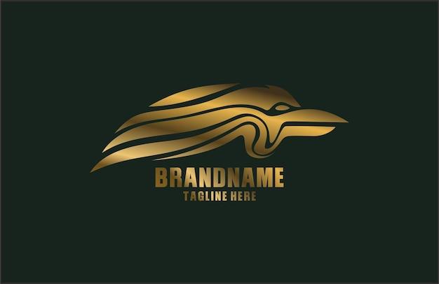 Logo de tête d'ailes de garuda
