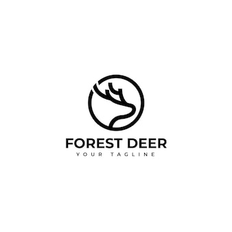 Logo tête de cerf simple