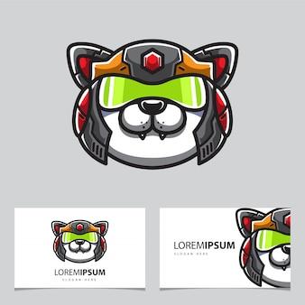 Logo tête de chat robotique