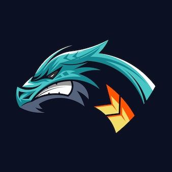 Logo tête de dragon symbole tête de dragons