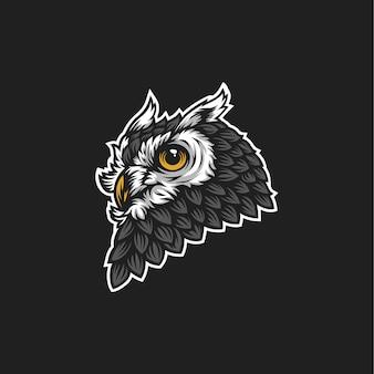Logo tête de hibou