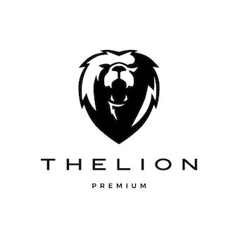 Logo tête de lion rugissant