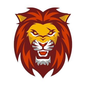 Un logo de tête de lion