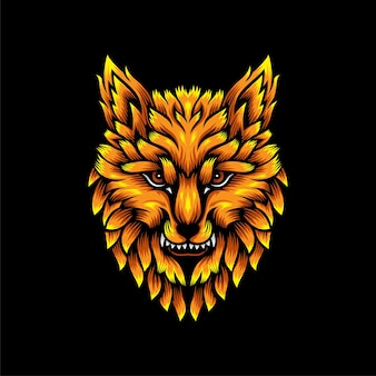 Logo tête de loup