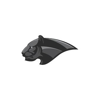 Logo de tête noire panthère