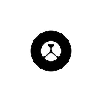 Logo de tête d'ours de cercle
