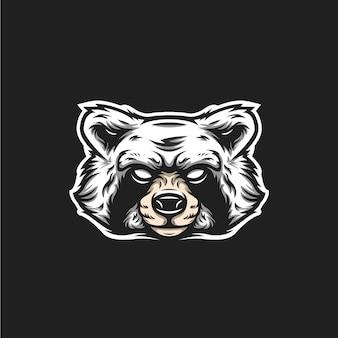 Logo tête de raton laveur