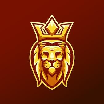 Logo tête de roi lion