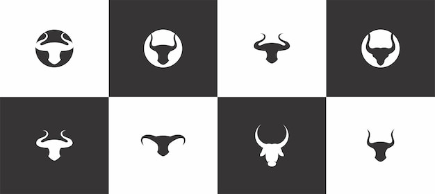 Logo tête de taureau