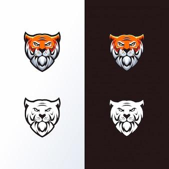 Logo tête de tigre prêt à l'emploi