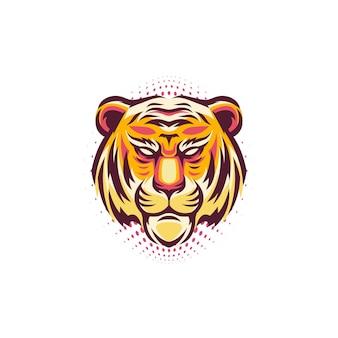 Logo tête de tigre