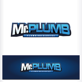 Logo de texte mr plumb drop