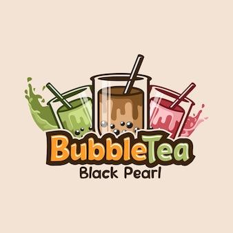 Logo de thé à bulles