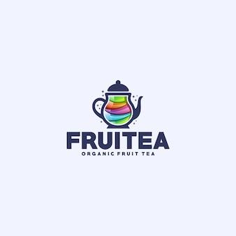 Logo de thé de fruits