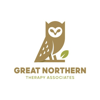 Logo de thérapie de hibou