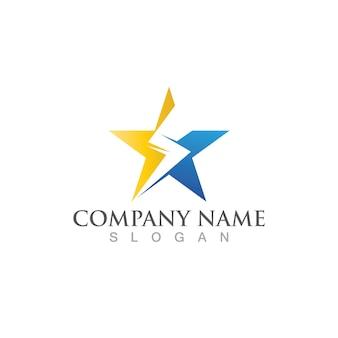 Logo thunderbolt et image vectorielle de symbole