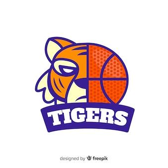 Logo de tigre de basket-ball