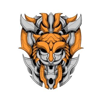 Logo de tigre de fer
