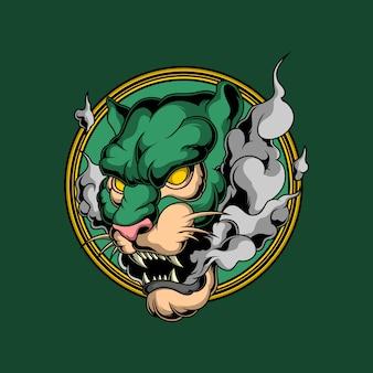 Logo de tigre fumé