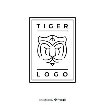 Logo de tigre linéaire
