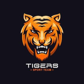Logo de tigre rugissant génial