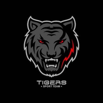Logo de tigre rugissant intelligent