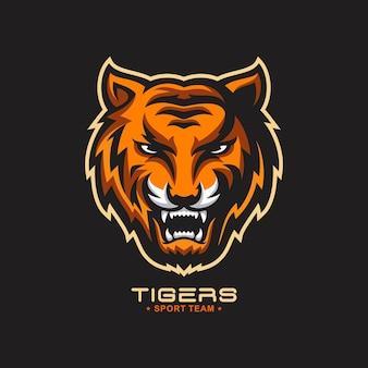 Logo de tigre rugissant