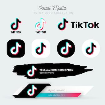 Logo tiktok et troisième collection inférieure