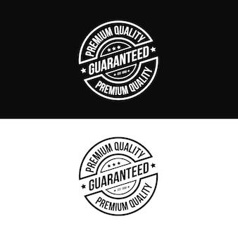 Logo de timbre de produit de qualité supérieure