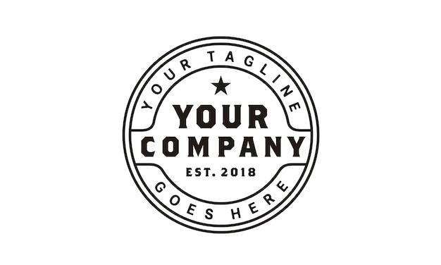 Logo de timbre vintage minimaliste