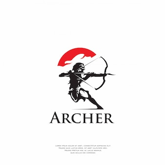 Logo de tir à l'arc moderne