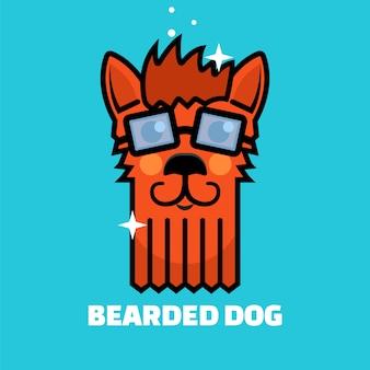 Logo de toilettage de chien