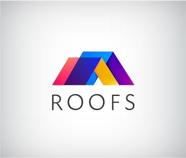Logo de toit, construction de maison.