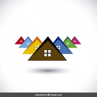 Logo avec des toits