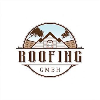 Logo de toiture vintage
