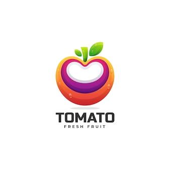 Logo tomate dégradé style coloré