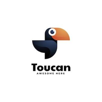 Logo toucan dégradé style coloré