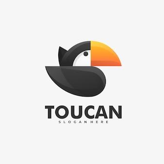 Logo toucan gradient coloré