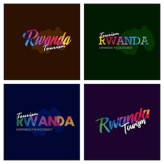 Logo de tourisme rwanda typographie