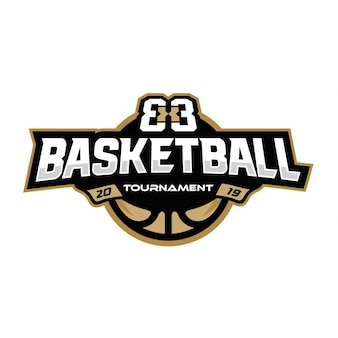 Logo de tournoi de basketball