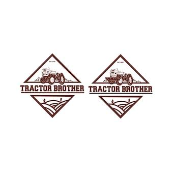 Logo de tracteur de ferme
