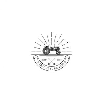 Logo de tracteur pour agriculture industrielle - agriculture