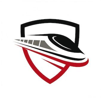 Logo de train rapide
