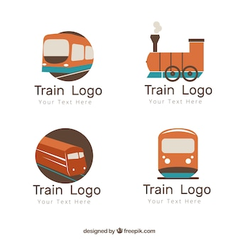 Logo de train simple