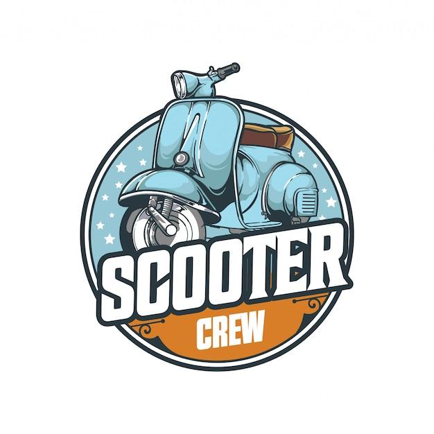Logo de transport emblème insigne équipage scooter