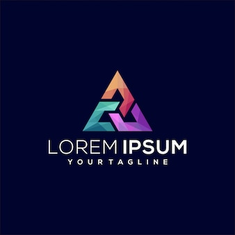 Logo triangle gradient